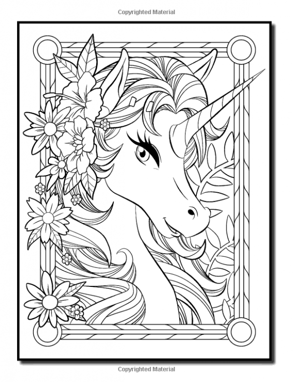 Amazon.com: Unicorn Coloring Book: An Adult Coloring Book with Fun ..