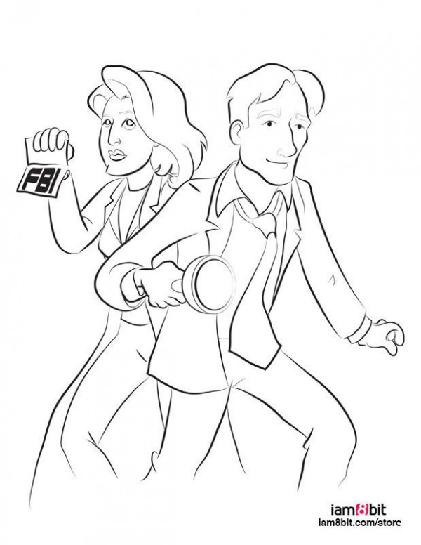 An 'X-Files' Coloring Book For The Believer In Your Life | HuffPost – x files coloring book
