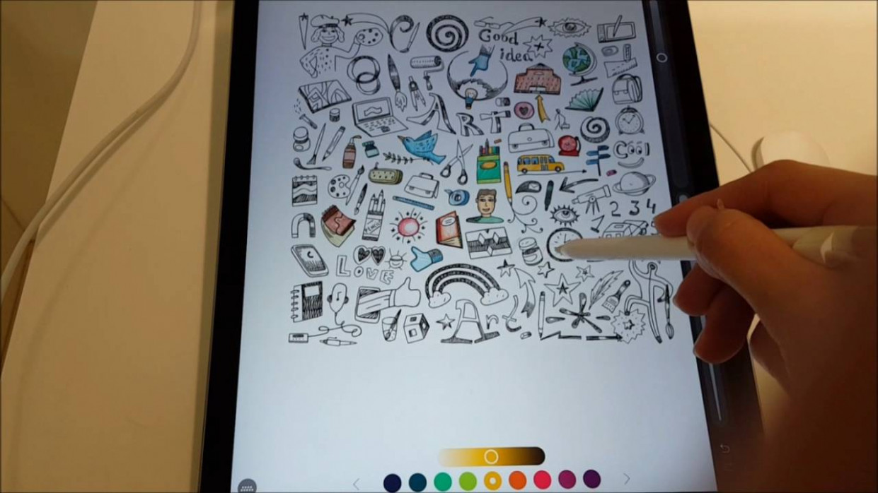 Apple iPad Pro 13'13 with Pencil (Pigment – Coloring Book) – YouTube – ipad coloring book