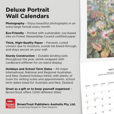 Art Page-A-Week Gallery 15 Portrait - BrownTrout - Calendar For Year 2019 Australia