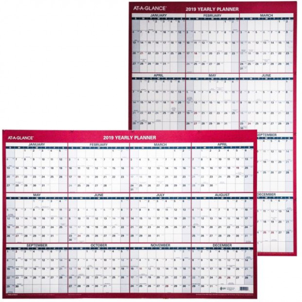 "AT-A-GLANCE 15 Yearly Wall Calendar 15"" X 15"" Large Erasable Dry ..."