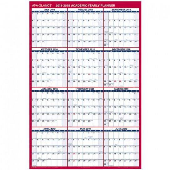 At-A-Glance PM14AP-14 14-14 Academic Yearly Planner, Dry Erase ...