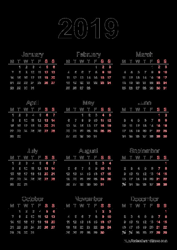 at a glance yearly wall calendar. template 13 pdf template for three ..