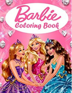 Barbie coloring book: great coloring book for girls, woman, kids (18 ..