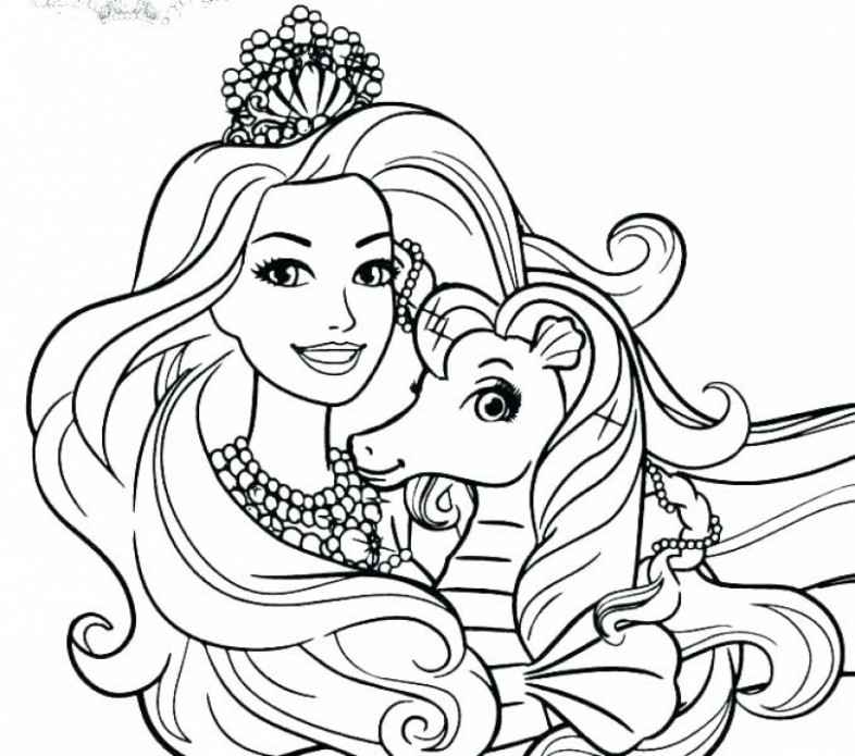Barbie Colouring Pages free printable barbie coloring book with ..
