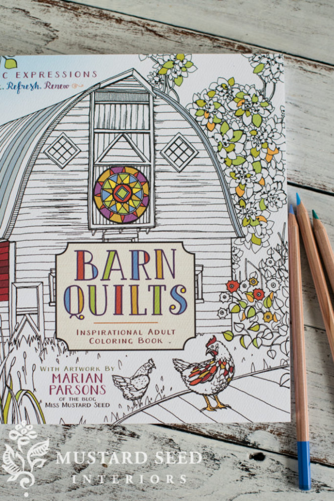 barn quilt coloring book