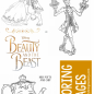 Beauty and The Beast Coloring Pages | Simply Being Mommy