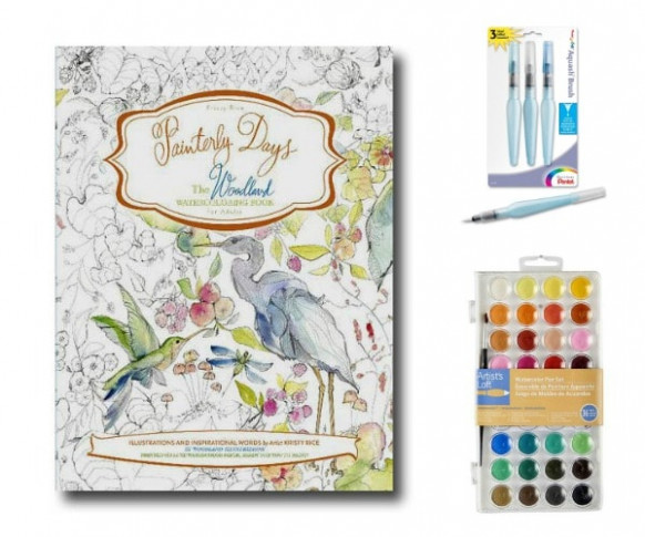 Beginner Watercolor Painting with Painterly Days   Empress of Dirt - water coloring book