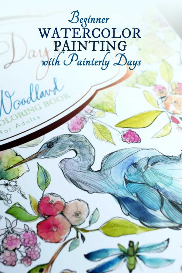 Beginner Watercolor Painting with Painterly Days | Empress of Dirt - watercolor coloring book