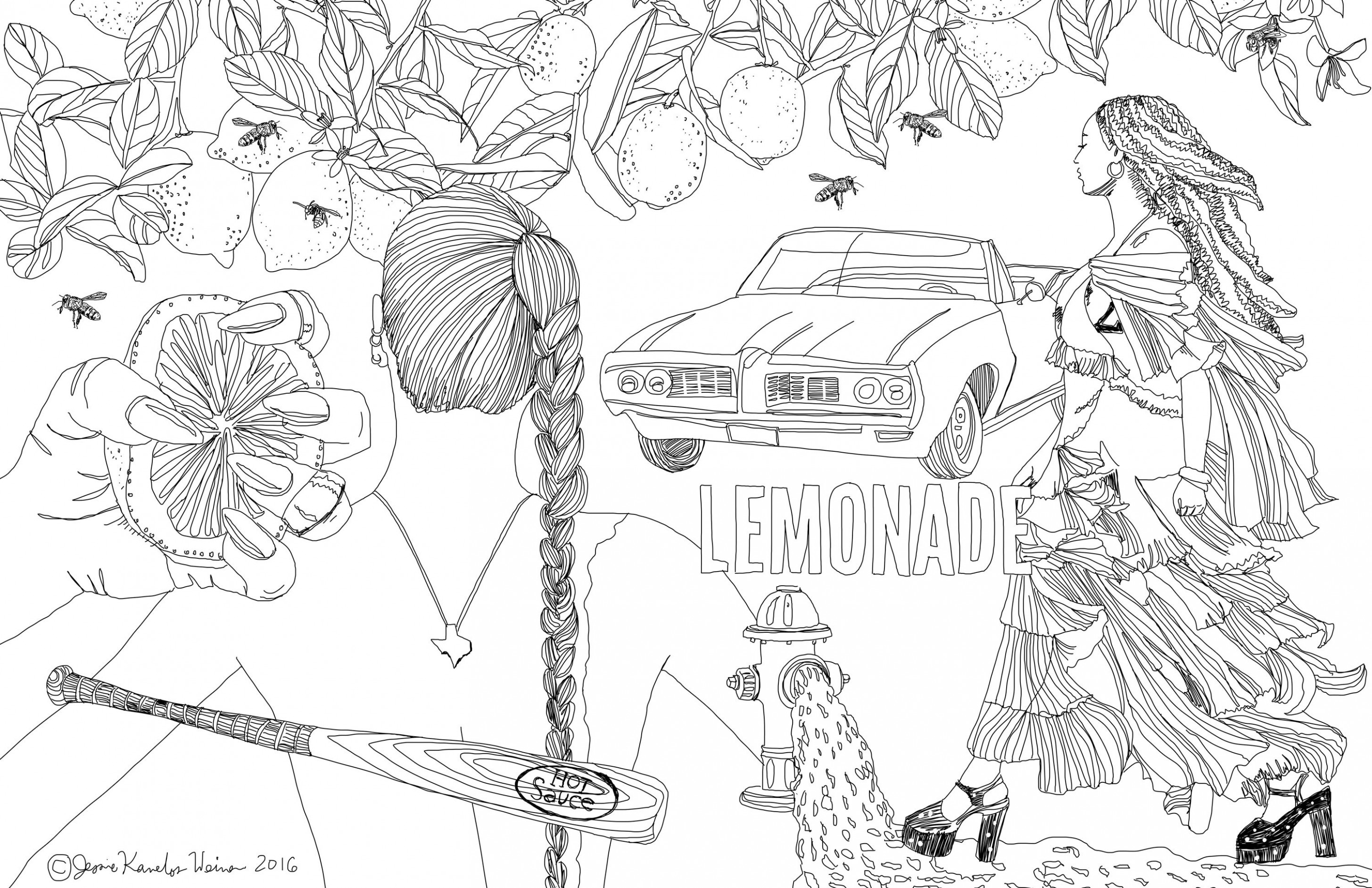 Beyoncé's Lemonade May Be Made Into a Coloring Book – Vogue – vogue coloring book