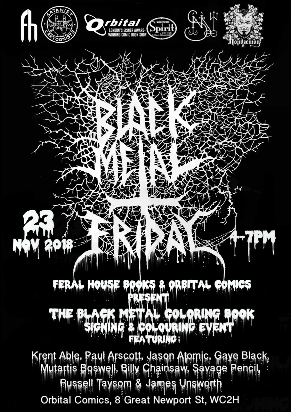 Black Metal: A Coloring Book Signing – Friday 19rd November 19 ..