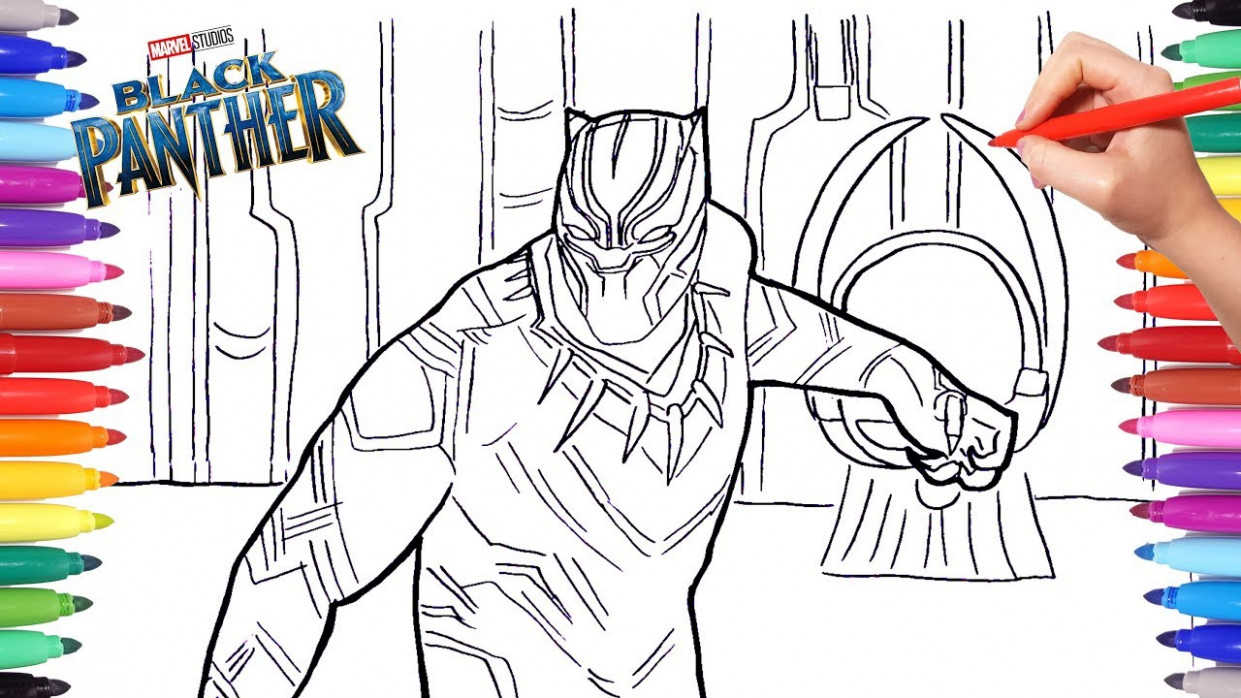 BLACK PANTHER Coloring Pages | Drawing and Coloring Marvel Black ..