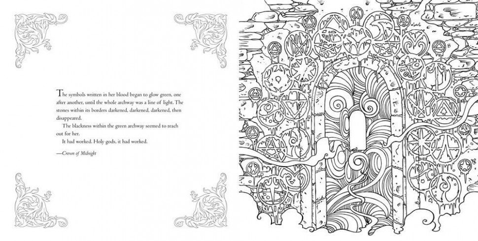Bloomsbury reveals pages of THRONE OF GLASS coloring book - YA ...