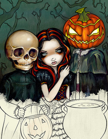 Blue Angel Publishing - Jasmine Becket-Griffith Halloween Coloring Book - jasmine becket-griffith coloring book a fantasy art adventure