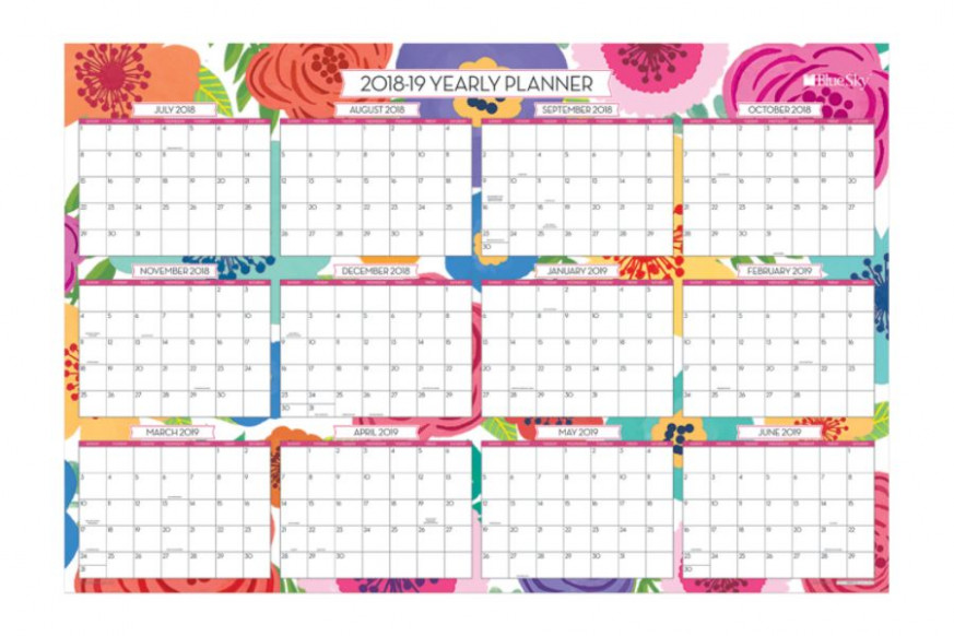 Blue Sky Dry Erase 15 Month Yearly Wall Calendar 15 x 15 Mahalo July ...