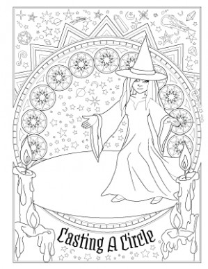 Book of Spells – Coloring Book of Shadows – book of shadows coloring book