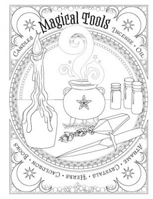 Book of Spells   coloring   Book of shadows, Coloring books ..