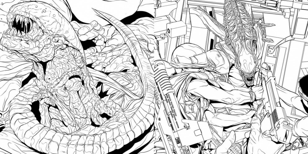 Book Review: 'Alien: The Coloring Book' - ScienceFiction.com