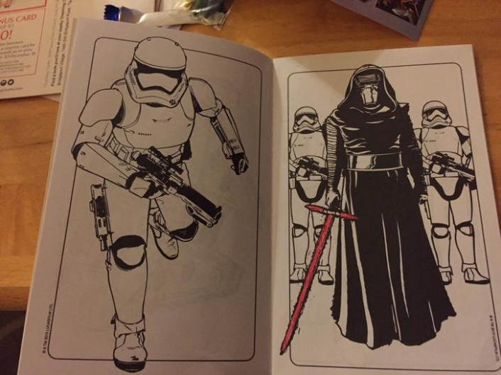 Bought a STAR WARS coloring book. whats the fckiing point?? - Imgur