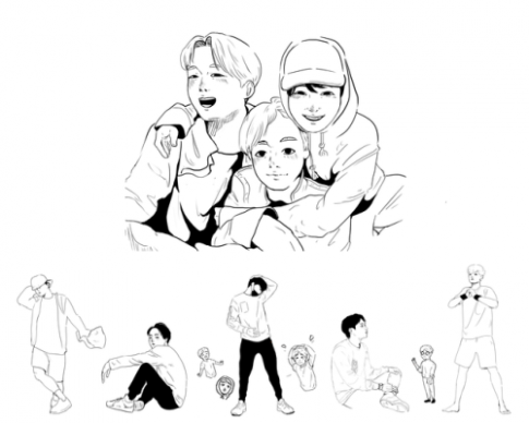 bts coloring book project | Tumblr
