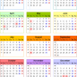 Calendar 14 (UK) - 14 free printable PDF templates