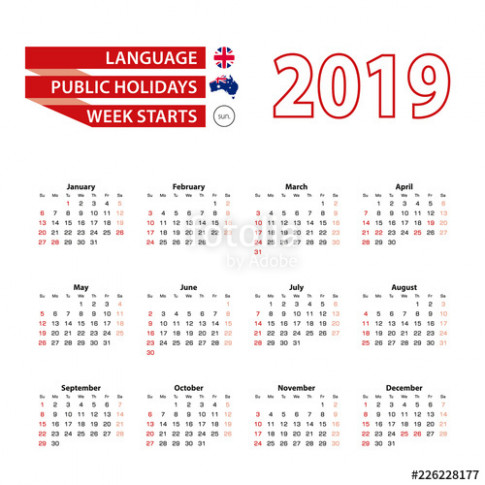 Calendar 15 in English language with public holidays the country ...