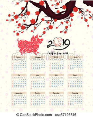 Calendar 20 Chinese For Happy New Year Of The Pig – swifte