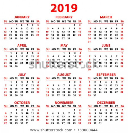 Calendar 20 Year Simple Style White Stock Vector (Royalty Free ...