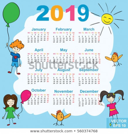 Calendar New Year 20 Date Your Stock-Vektorgrafik (Lizenzfrei ..