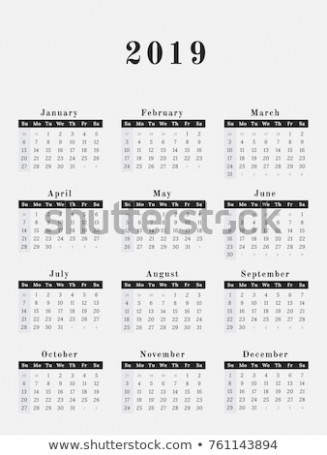 Calendar Year 13 Vector Illustration Magazine Stock Vector ..