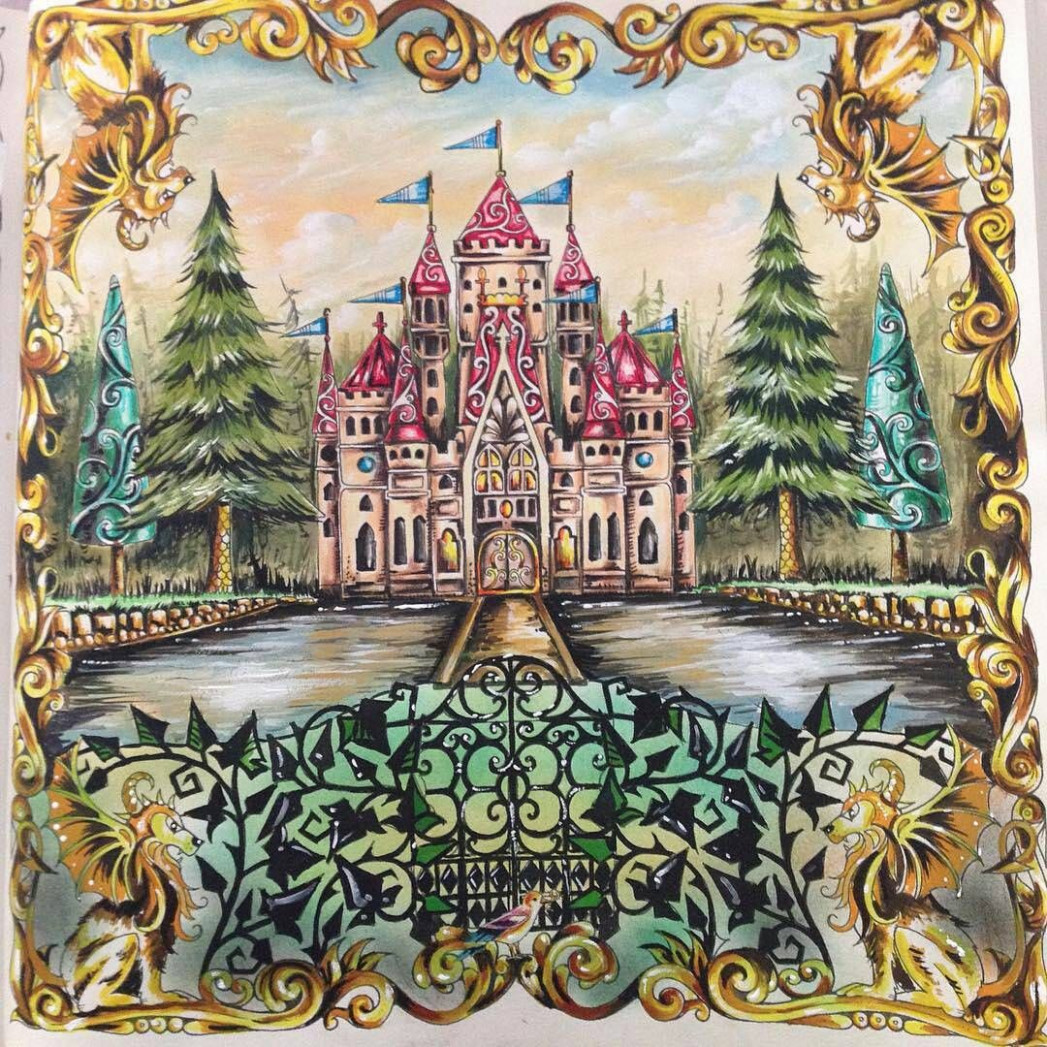 Castillo, Bosque encantado. - Enchanted Forest by Johanna | coloring ..