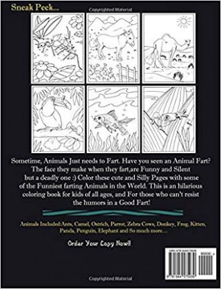 cheap Farting Animals Coloring Book: A Cute and Funny Coloring Book ...
