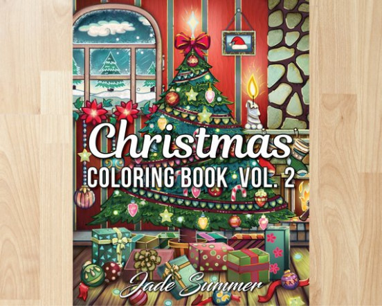 Christmas Coloring Book Volume 14 by Jade Summer Coloring | Etsy