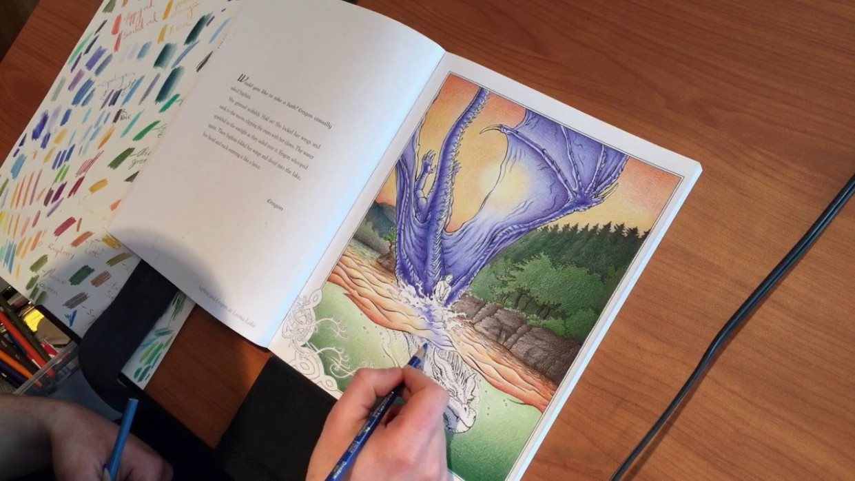 Christopher Paolini Colors a Page in His New Book | THE OFFICIAL ...