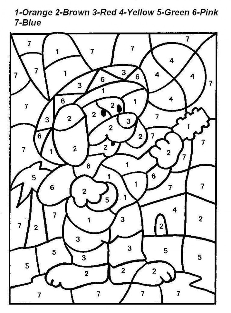 color-by-number-coloring-pages-for-kids-13 | math coloring ..