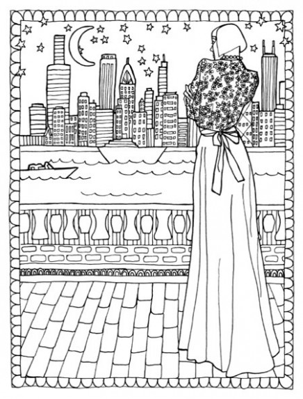 Color in Fashion Adult Coloring Book Review  - fashion coloring book