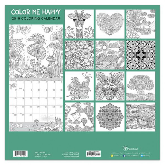 Color Me Happy – TF Publishing | Calendars   Planners – Journals   ..
