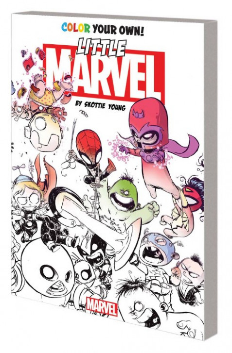 Color Your Own Young Marvel By Skottie Young Coloring Book ..