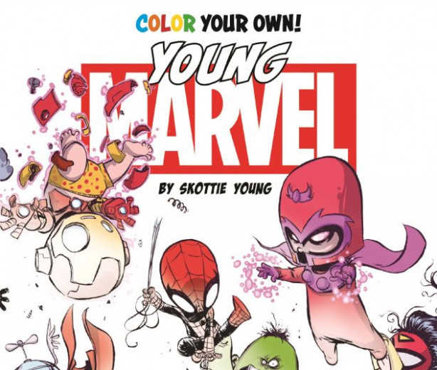 Color Your Own Young Marvel by Skottie Young (Trade Paperback ...
