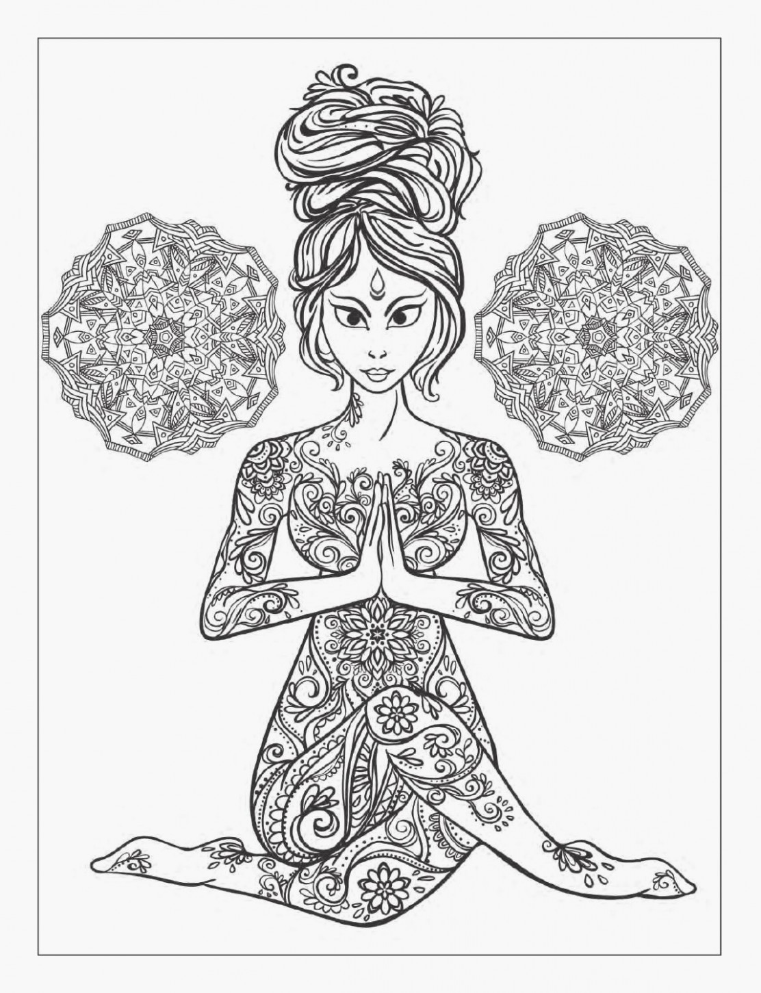Coloriage Adulte Mandala Of Yoga and Meditation Coloring Book for ..