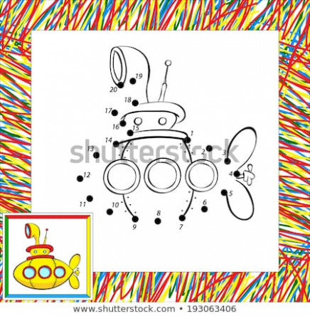 Coloring Book Border Funny Yellow Submarine Stock Vector (Royalty ..
