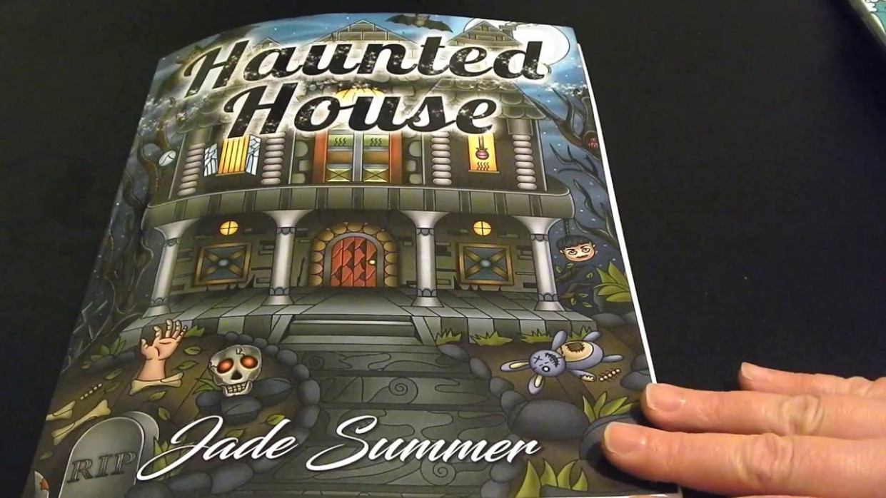 coloring book flip through - Haunted House by Jade Summer - YouTube