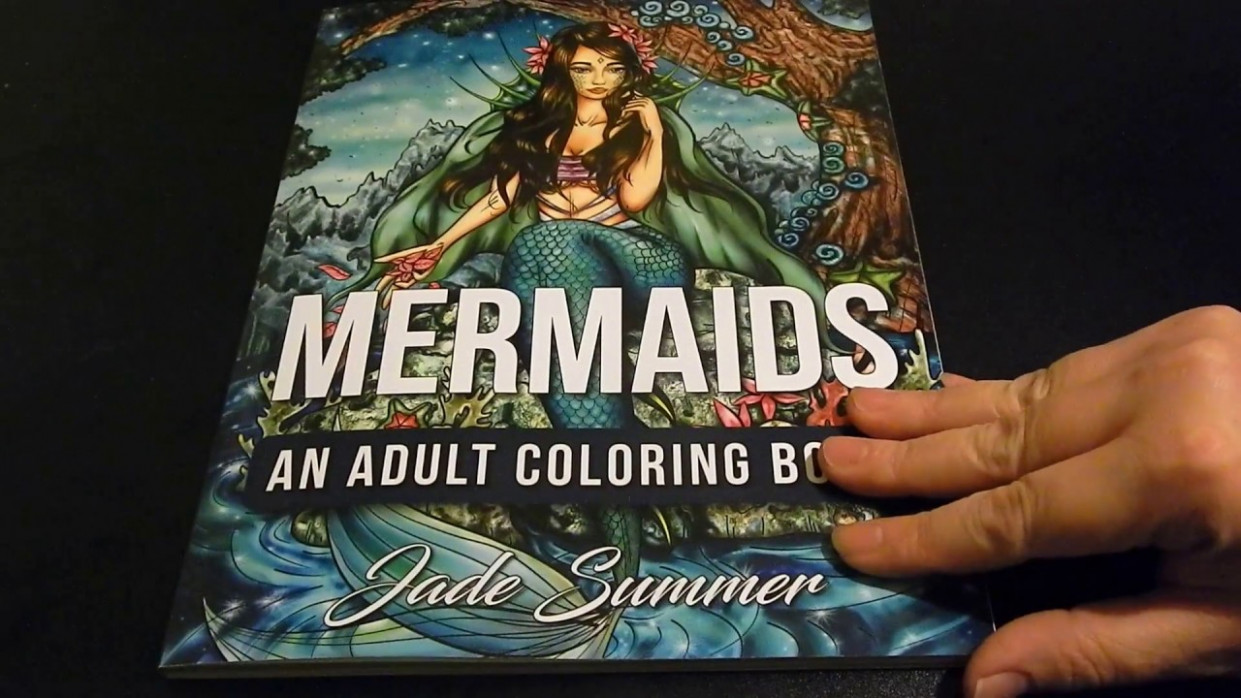 coloring book flip through – Mermaids by Jade Summer – YouTube – jade summer coloring book