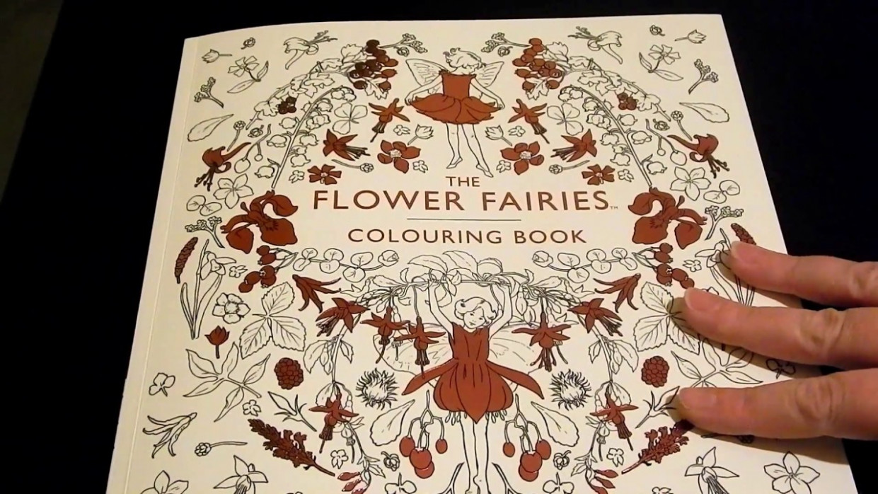 coloring book flip through - The Flower Fairies Colouring Book by ...