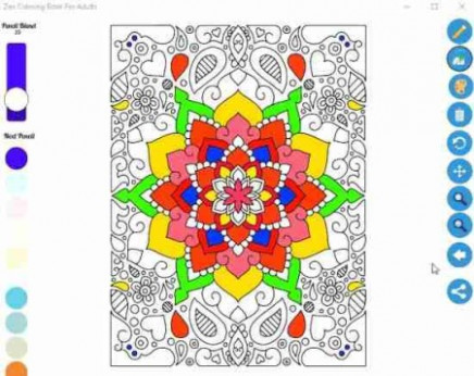 Coloring Book for Adults: Zen Windows 20 Coloring App – zen coloring book app