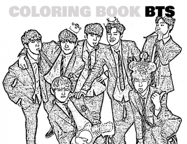 Coloring Book Kpop BTS – Kpoplicious – bts coloring book