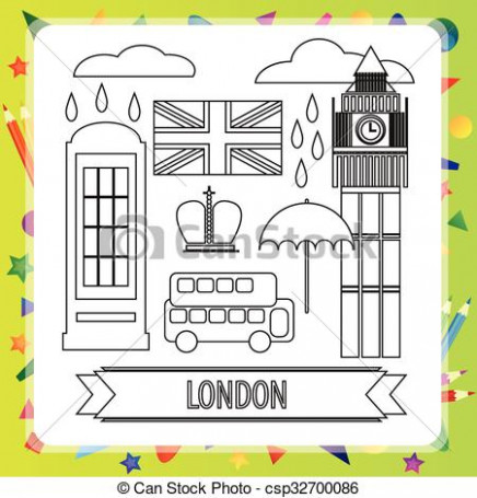 Coloring book – london. Coloring book for children – london – vector ..