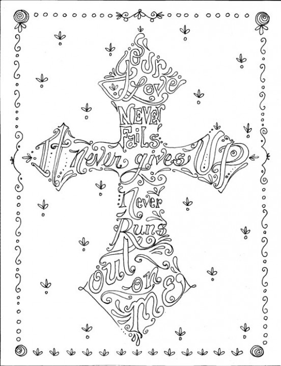 Coloring Book of Crosses Christian Art to Color and Create Scripture ..