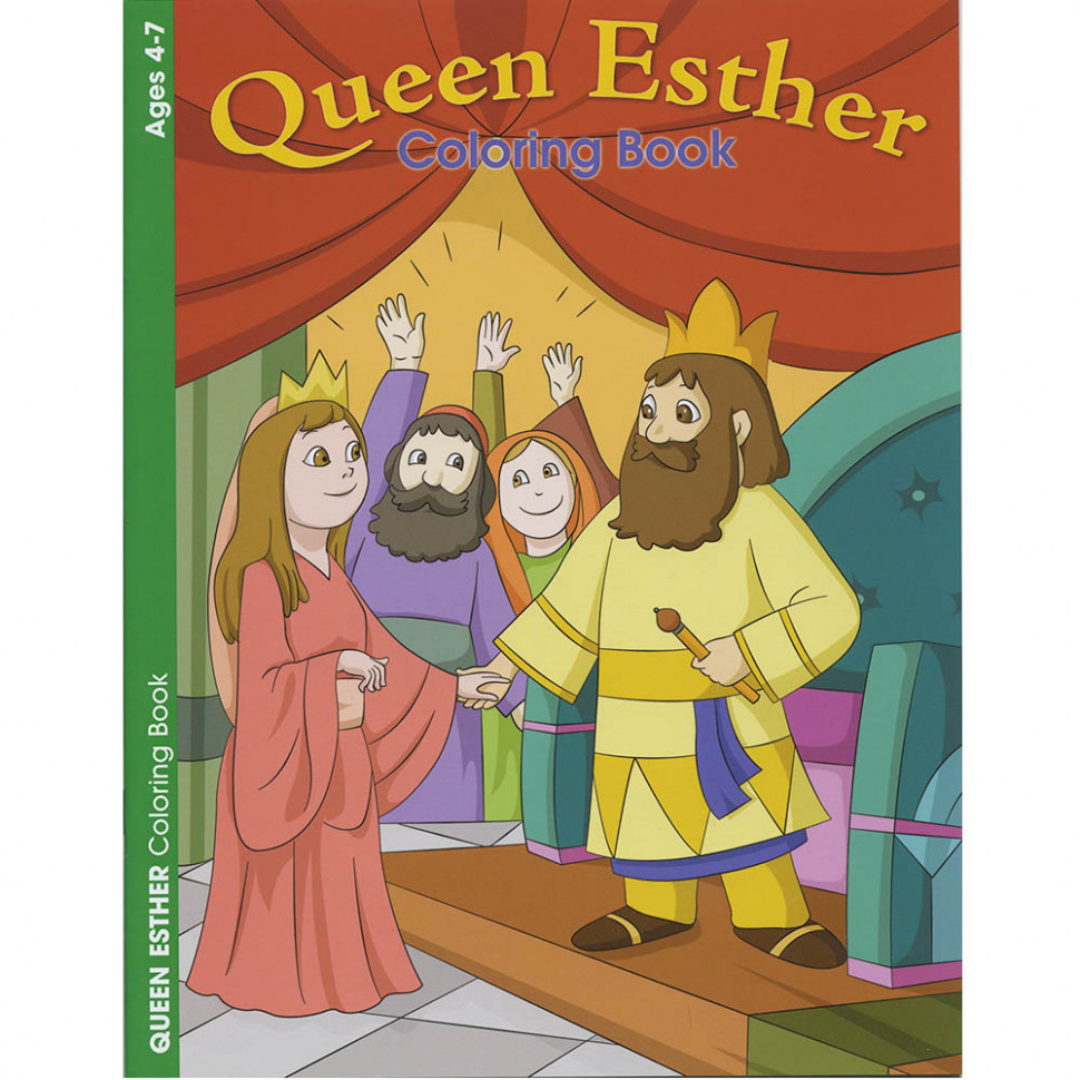 Coloring Book - Queen Esther-www.homesew.com