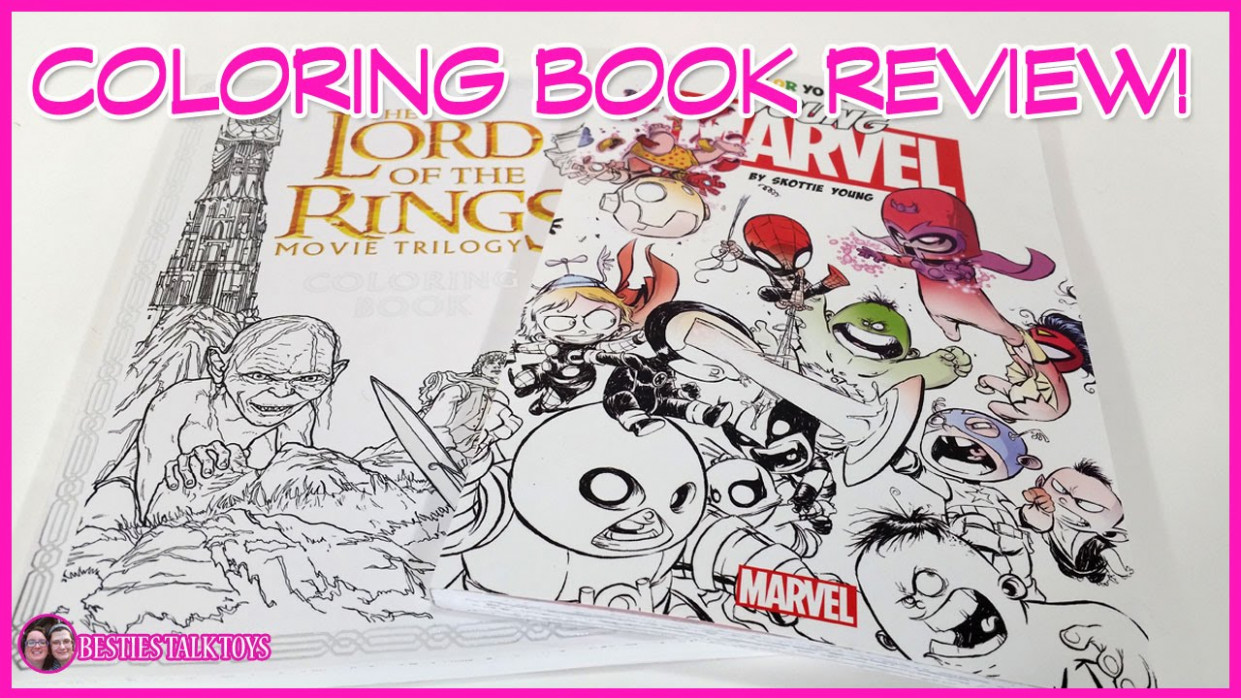 Coloring Book Review - Lord Of The Rings and Color Your Own Young ...